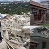 Lady Snapped With Residual Demolished House Built By Ex-Boyfriend (Photos)